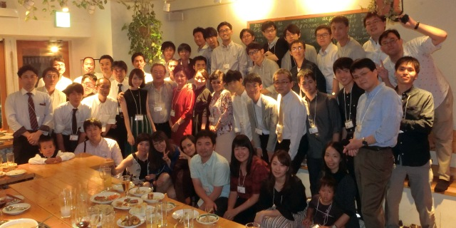Group photo on Sep. 23, 2017 (Lab members and alumni celebrated Prof. Sawaragi's 60th birthday!!)